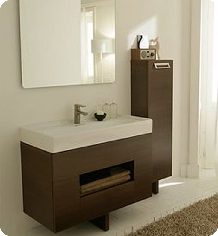 LaToscana 7064 Open 100 Collection Wenge Wood Modern Bathroom Vanity
