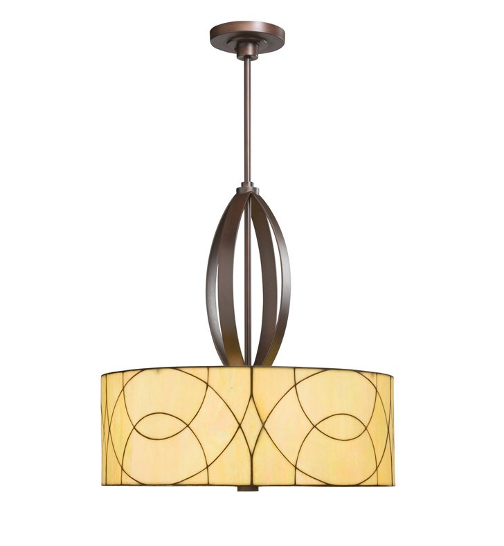 Kichler 65325 Spyro Collection Chandelier/ Pendant 3 Light in Dark Bronze