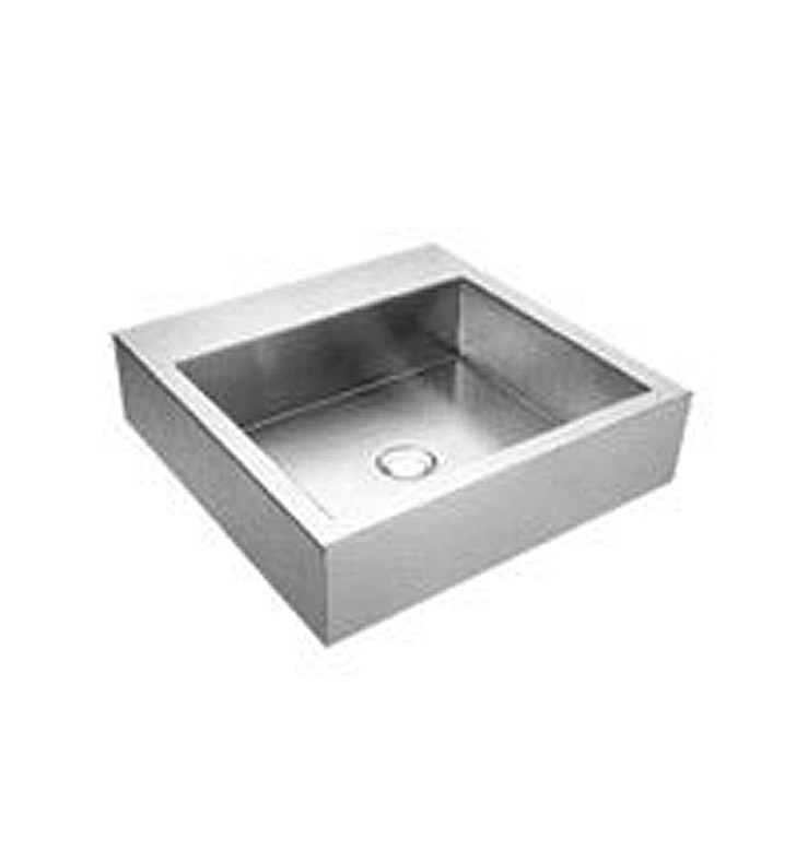 Whitehaus WHNCMB001 Square Above Mount Stainless Steel Bath Sink - Noah's Collection