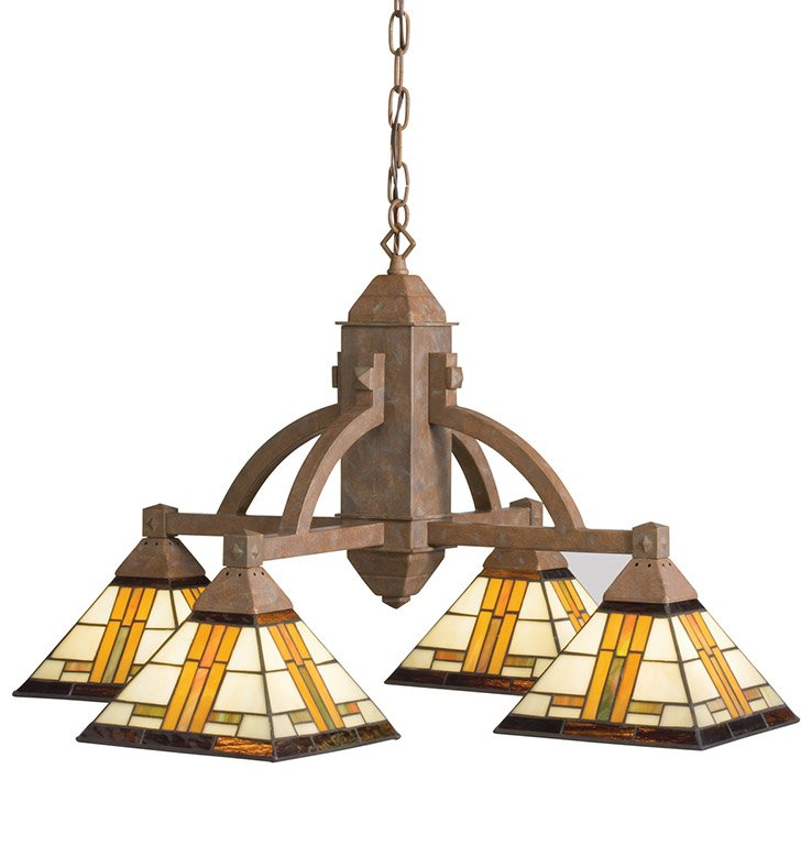 Kichler 66007 Chandelier 4 Light in Patina Bronze