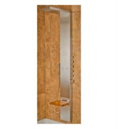 Pulse 1035 Oahu Shower Panel in Matte Stainless Steel Finish w/ Integrated teak folding seat