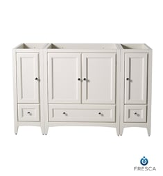 "Fresca FCB20-123012AW Oxford 54"" Antique White Traditional Bathroom Cabinets"