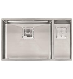 "Franke PKX160 Peak 30 7/8"" Stainless Steel Double Basin Undermount Kitchen Sink with Right Hand Small Basin"