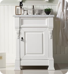 "James Martin 147-V26-BW Brookfield 26"" Single Bathroom Vanity in Bright White Finish"