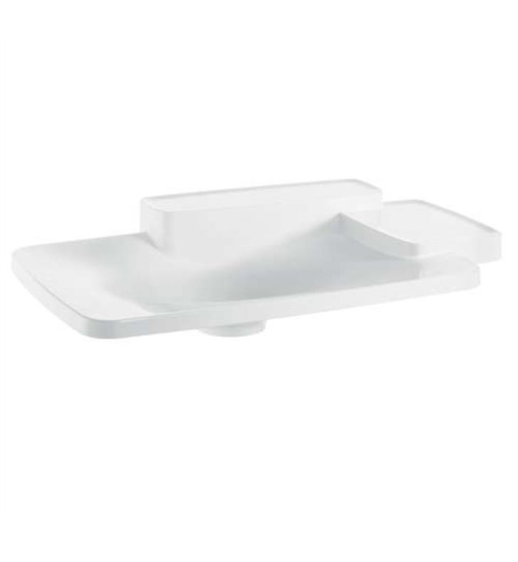 "Hansgrohe 19943000 Axor Bouroullec 34 1/8"" Drop In Bathroom Sink with Two Shelves in White"