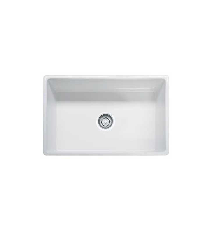 "Franke FHK710-30LN Farmhouse 30 1/8"" Single Basin Undermount Fireclay Kitchen Sink With Finish: Linen"