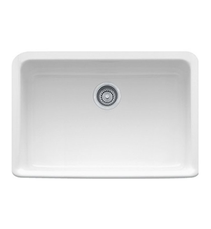 "Franke MHK110-28BT Manor House 27 1/8"" Single Basin Apron Front Fireclay Kitchen Sink With Finish: Biscuit"
