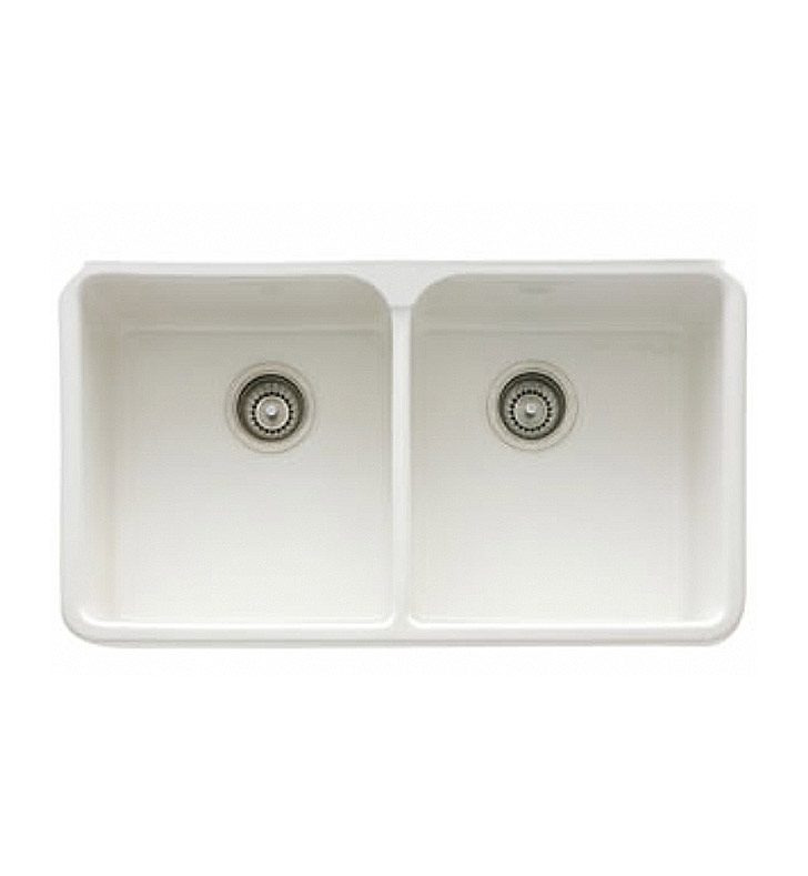 "Franke MHK720-31WH Manor House 31 1/4"" Double Basin Apron Front Fireclay Kitchen Sink With Finish: White"