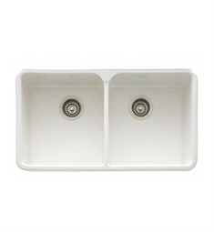 "Franke MHK720-31WH Manor House 31 1/4"" Double Basin Apron Front Fireclay Kitchen Sink"