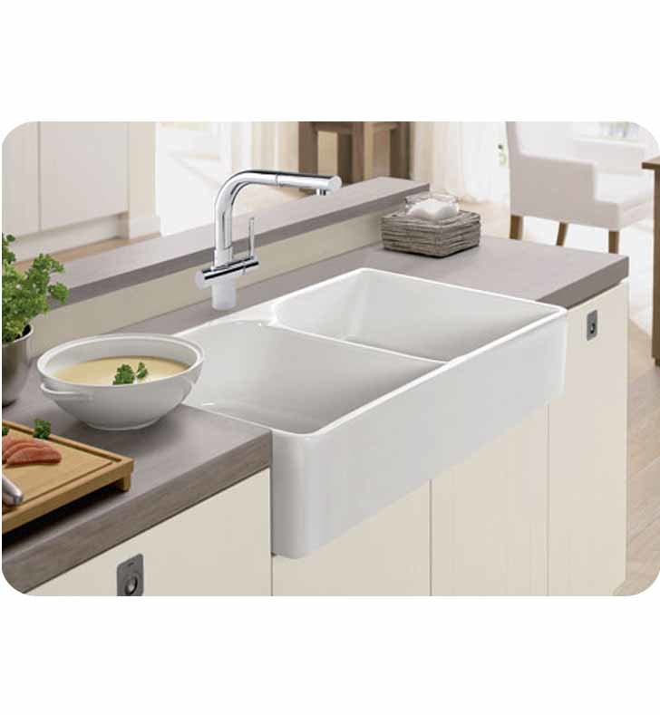 Franke Mhk720 35 Manor House 5 8 Double Basin A Front Fireclay Kitchen Sink