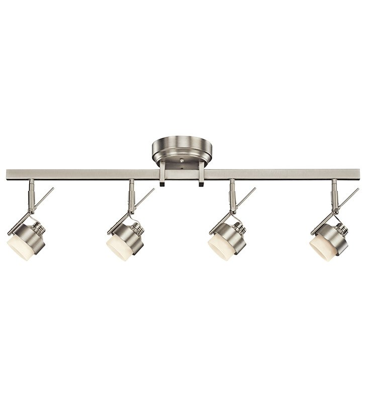 Kichler 10326NI Fixed Rail 4 Light LED in Brushed Nickel