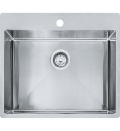 "Franke HFS2522-1 Vector 25"" Single Basin Undermount/Drop In Stainless Steel Kitchen Sink from Home Collection"