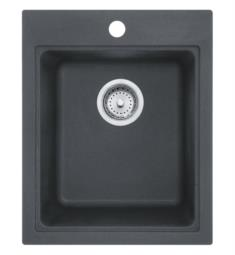 "Franke SZGR1720-1 Quantum 16 3/4"" Single Basin Undermount/Drop In Granite Kitchen Sink in Granite Graphite from Home Collection"