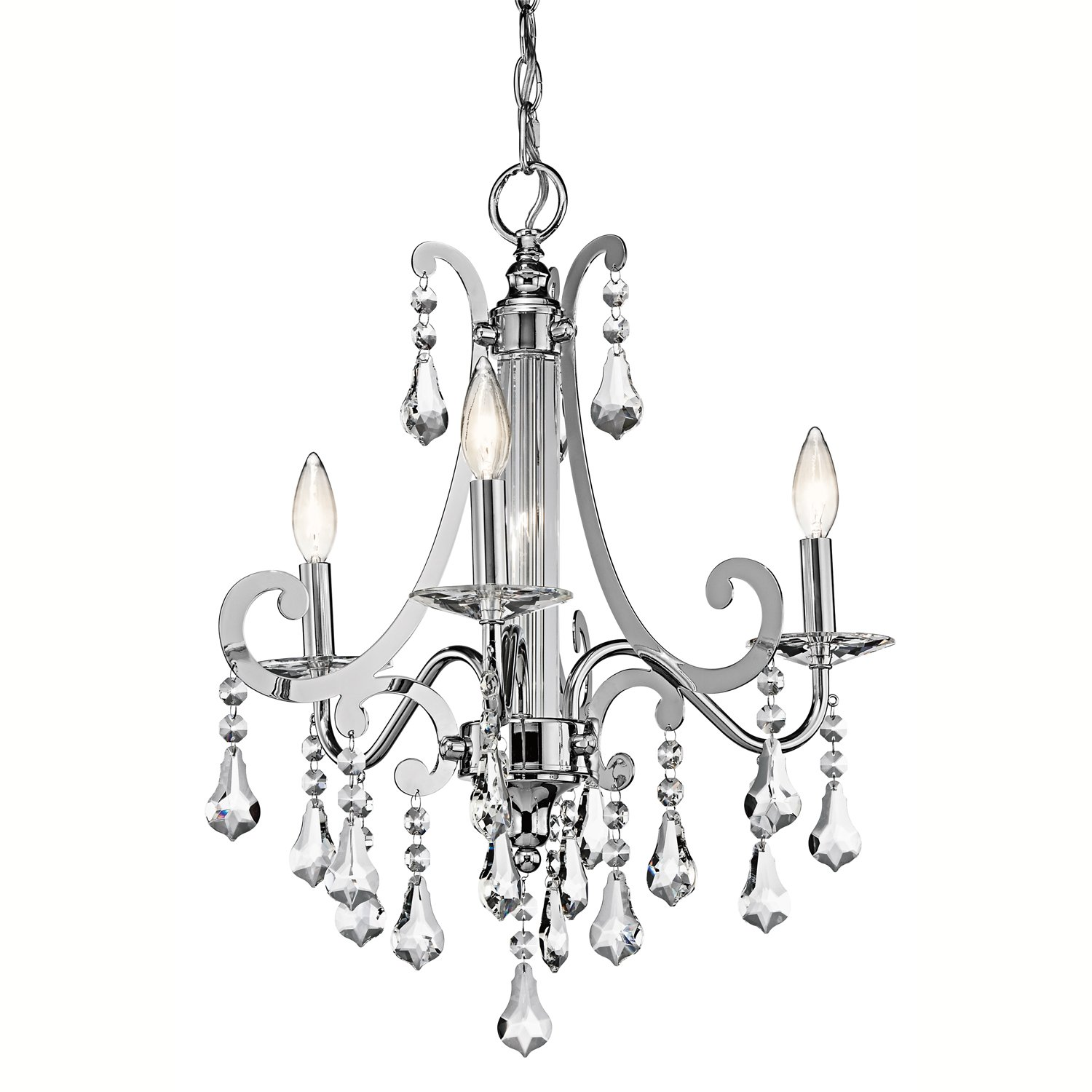 Kichler 42544CH Leanora Collection Chandelier 3 Light in Chrome