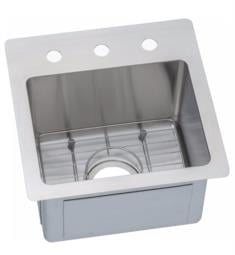 "Elkay ECTSR15159BG Crosstown 15"" Single Bowl Drop In/Undermount Stainless Steel Bar/Prep Kitchen Sink with Bottom Grid"