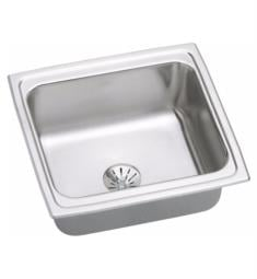 "Elkay DLFR191810PD Gourmet 19"" Single Bowl Drop In Stainless Steel Bar/Prep Kitchen Sink with Perfect Drain"