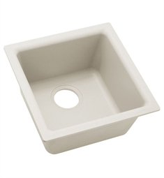 "Elkay ELX1616 Quartz Luxe 15 3/4"" Single Bowl Drop In/Undermount Bar/Prep Kitchen Sink"