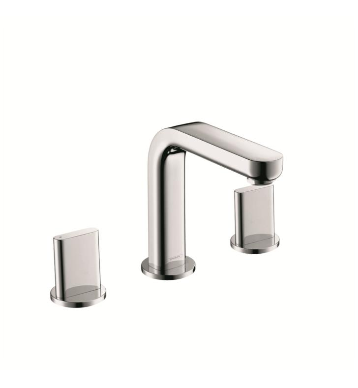 "Hansgrohe 31063001 Metris S 5 1/8"" Double Handle Widespread/Deck Mounted Bathroom Faucet with Pop-Up Assembly With Finish: Chrome"
