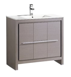 "Fresca FCB8136GO-I Allier 36"" Gray Oak Modern Bathroom Cabinet with Sink"