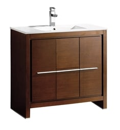 "Fresca FCB8136WG-I Allier 36"" Wenge Brown Modern Bathroom Cabinet with Sink"