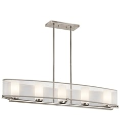 Kichler 42920CLP Saldana Collection Chandelier Linear 5 Light in Classic Pewter