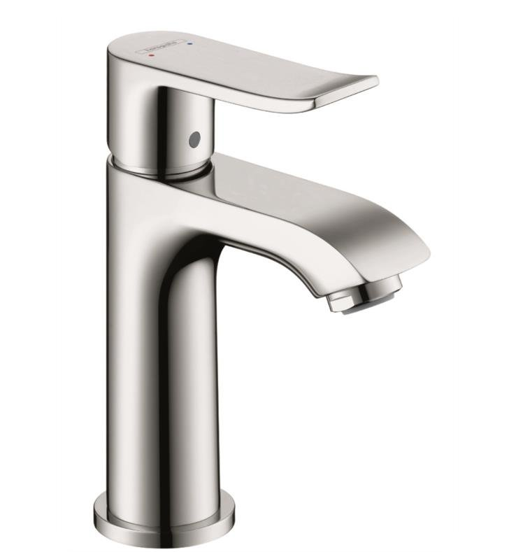 "Hansgrohe 31088 Metris 100 4 7/8"" Single Handle Deck Mounted Bathroom Faucet with Pop-Up Assembly"