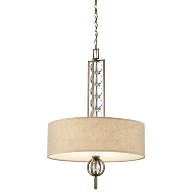 Kichler 42192CMZ Celestial Collection Chandelier/ Pendant 3 Light in Cambridge Bronze