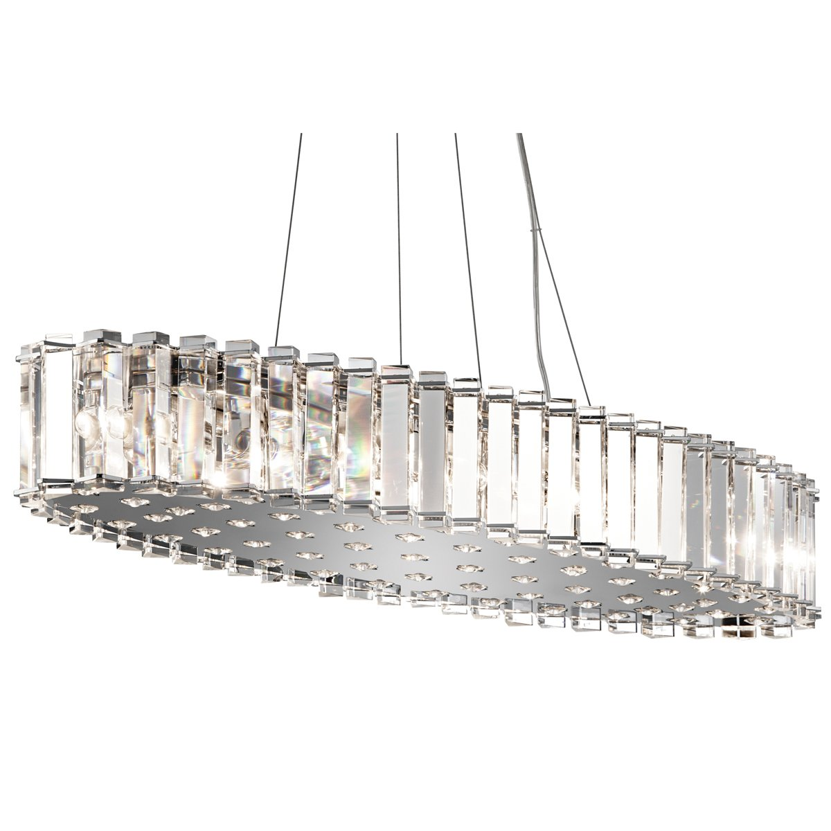 Kichler 42173CH Crystal Skye Collection Chandelier/Oval Pendant 12 Light in Chrome