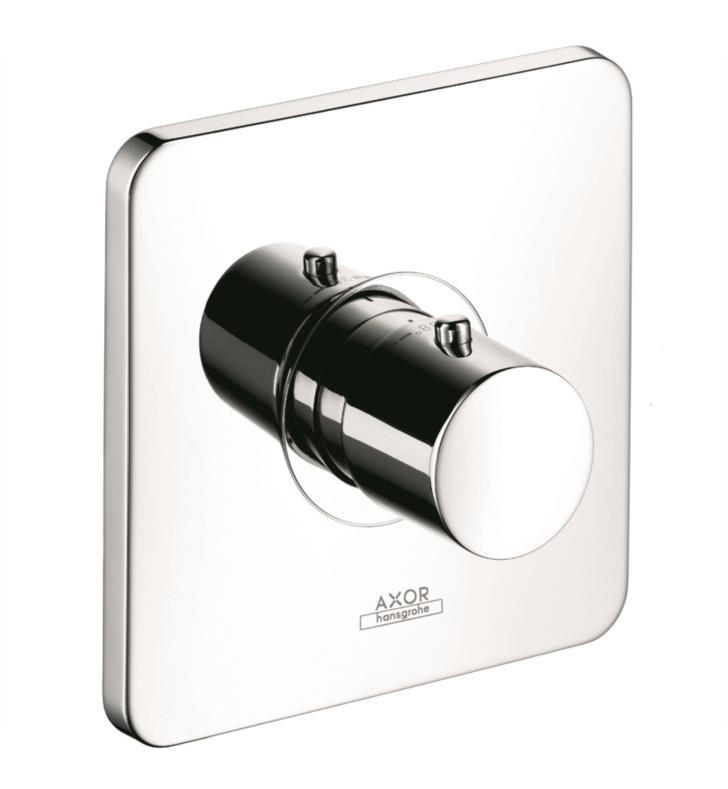 "Hansgrohe 34714821 Axor Citterio M 6 3/4"" Highflow Thermostatic Trim with Metal Knob Handle With Finish: Brushed Nickel"