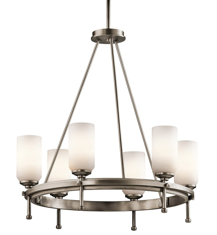 Kichler 42947AP Ladero Collection Chandelier 6 Light in Antique Pewter