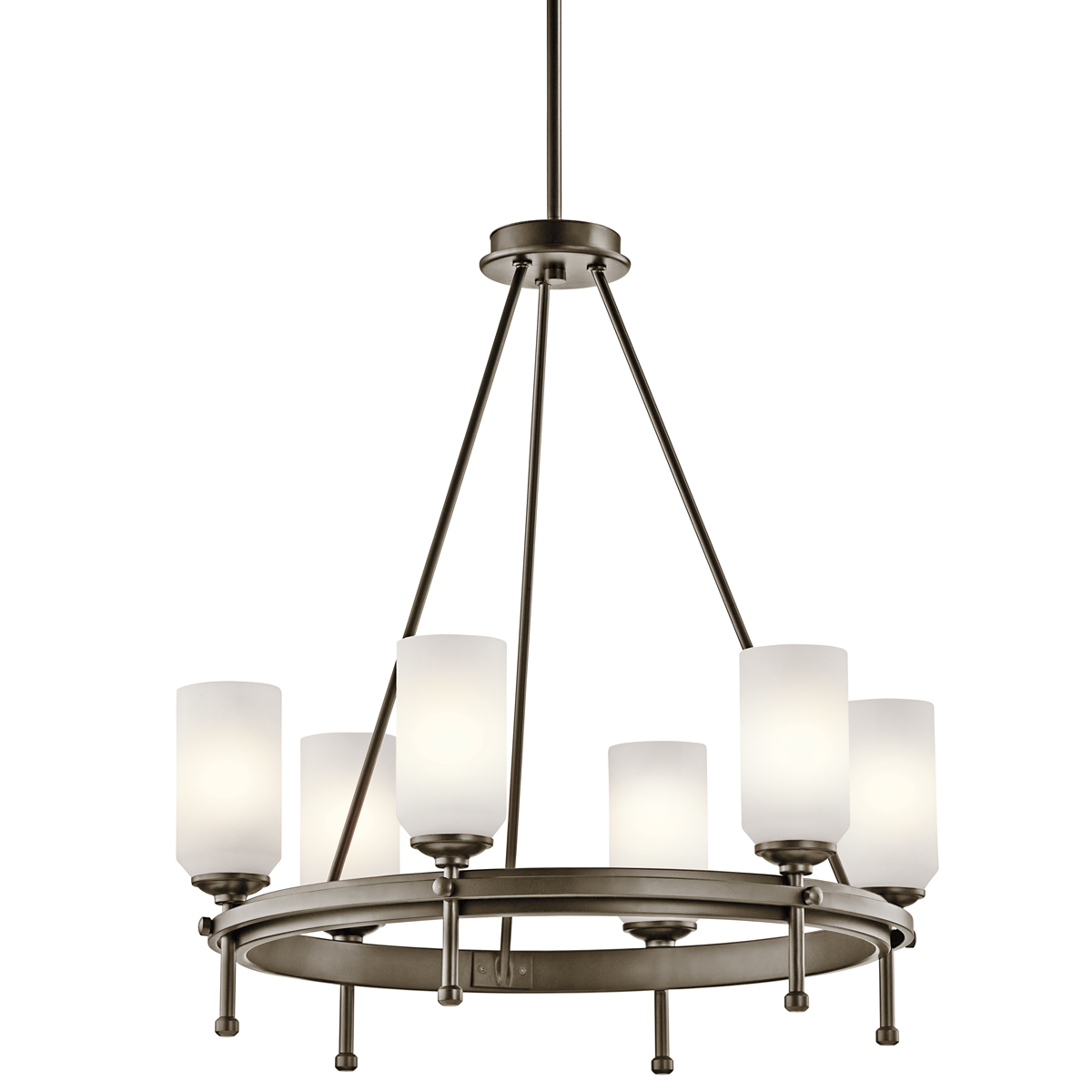 Kichler 42947SWZ Ladero Collection Chandelier 6 Light in Shadow Bronze