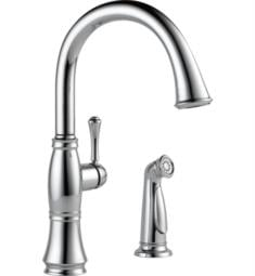 "Delta 4297 Cassidy 16"" Single Handle Deck Mounted Kitchen Faucet with Side Spray"
