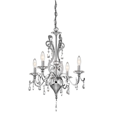 Kichler 42338CH Rizzo Collection Mini Chandelier 4 Light in Chrome