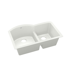 "Elkay ELXHU3322R Quartz Luxe 33"" Offset 60/40 Double Bowl Undermount Sink with Aqua Divide"