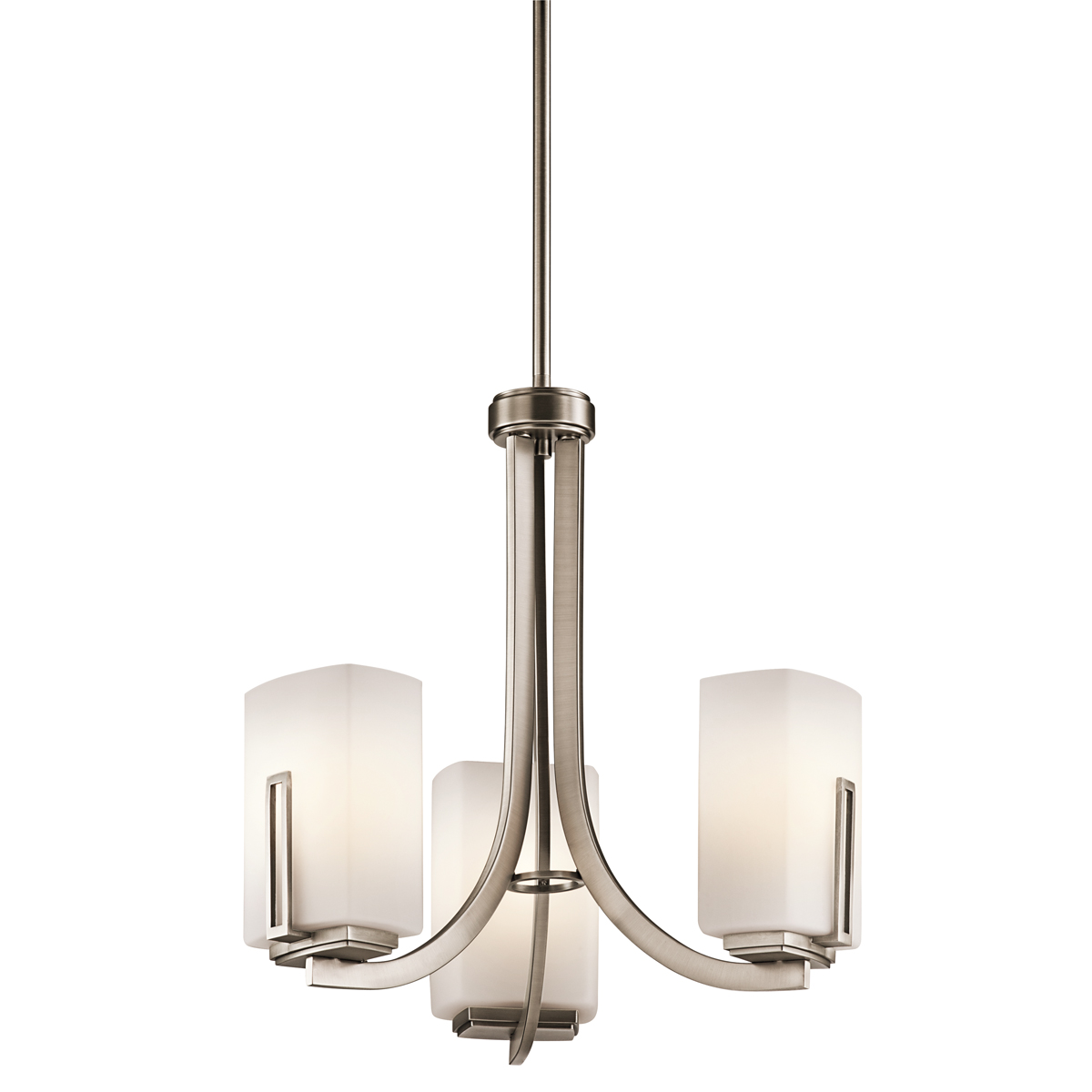 Kichler 42425AP Mini Chandelier 3 Light in Antique Pewter