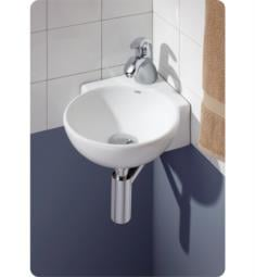 "Cheviot 1349-WH-1 Corner 12 3/4"" Wall-Mount Single Bowl Vessel Sink in White"