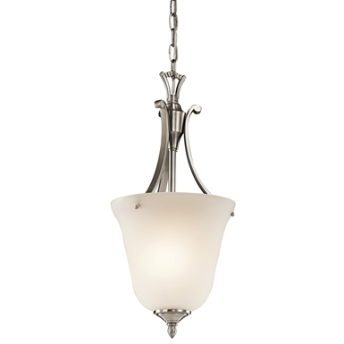Kichler 43403CLP Wellington Square Collection Chandelier Foyer 1 Light in Classic Pewter