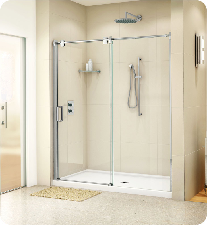 "Fleurco LG172-11-40 Luxe Glide In Line Door and Panel With Dimensions: Width: 69 1/2"" to 70 1/2"" 