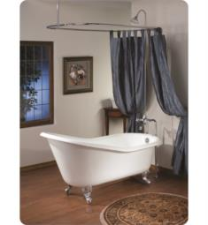 "Cheviot 2108 Slipper 61"" Cast Iron Clawfoot Soaking Bathtub with Continuous Rolled Rim"
