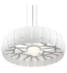 "Elan Lighting 83765 Osk 2 Light 25"" LED Pendant in White Finish"