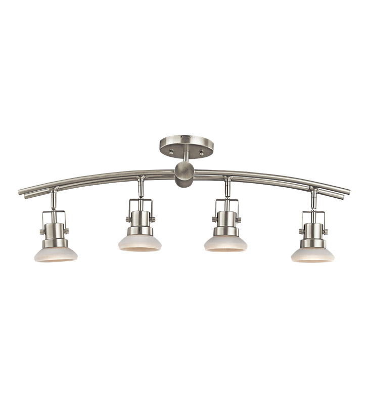 Kichler 7755NI Structures Collection Fixed Rail 4 Light Halogen in Brushed Nickel
