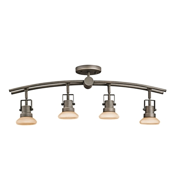 Kichler 7755OZ Structures Collection Fixed Rail 4 Light Halogen in Olde Bronze