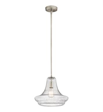 "Kichler 42328OZCS Everly 1 Light 12 1/2"" Incandescent Pendant with Clear Seedy Glass Shade With Finish: Olde Bronze"