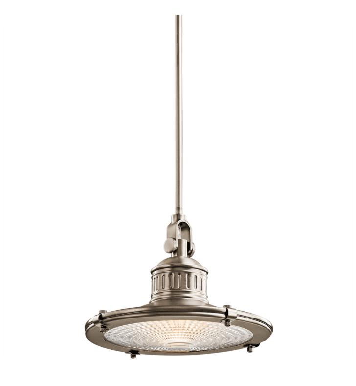 Kichler 42437OZ Sayre 1 Light Incandescent Pendant with Cone Shaped Metal Shade With Finish: Olde Bronze