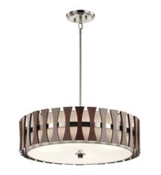 Kichler 43753AUB Cirus 4 Light Incandescent Semi-Flush Pendant in Auburn Stained