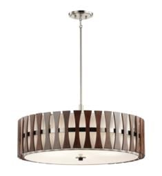Kichler 43754AUB Cirus 5 Light Incandescent Semi-Flush Pendant in Auburn Stained