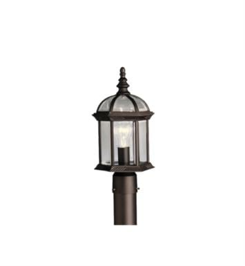 Kichler 9935TZ Barrie 1 Light Incandescent Outdoor Post Mount Lantern With Finish: Tannery Bronze