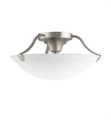 Kichler 3627 3 Bulb Incandescent Semi-Flush Mount Ceiling Light with Bowl Shaped Glass Shade