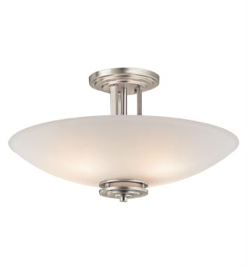 Kichler 3677NI Hendrik 4 Bulb Incandescent Semi-Flush Mount Ceiling Light with Bowl Shaped Glass Shade With Finish: Brushed Nickel