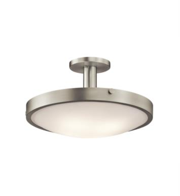 Kichler 42246 Lytham 4 Bulb Incandescent Semi-Flush Mount Ceiling Light with Bowl Shaped Glass Shade